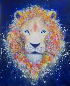 点描のライオン
